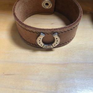 Jewelry - Vintage belt arm cuffs handmade